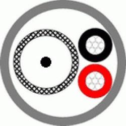 Кабель комбинированный для систем видеонаблюдения  КВК-П-3ф 2х0,5 (черный) (Паритет)